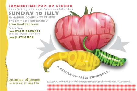 Summertime POP-Up Dinner July 10